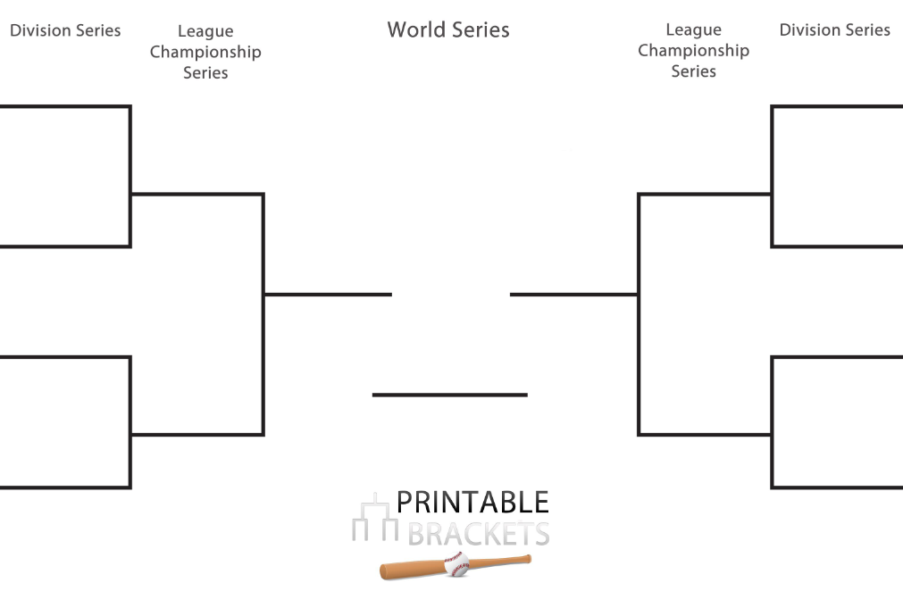 picture relating to Nba Playoffs Bracket Printable named 2020 MLB Playoff Bracket Printable MLB Playoff Bracket Sheet
