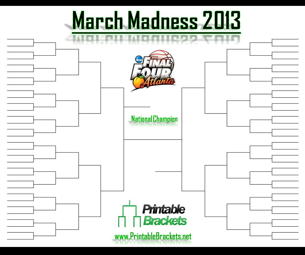 The 2013 NCAA Basketball Bracket