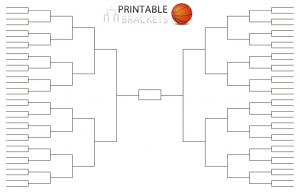 graphic regarding Printable 64 Team Bracket titled Basketball Match Brackets Blank Basketball Match