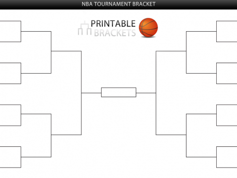 printable nba tournament bracket