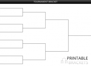 Printable brackets tournament brackets for Game brackets templates