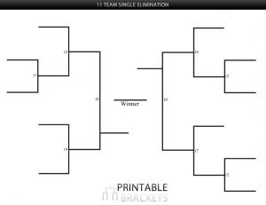 11 team single elimination bracket