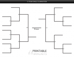 13 team single elimination bracket