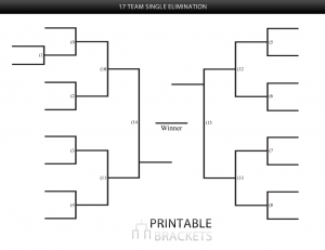17 team single elimination bracket
