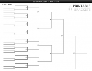26 team double elimination bracket
