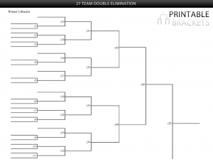 27 team double elimination bracket