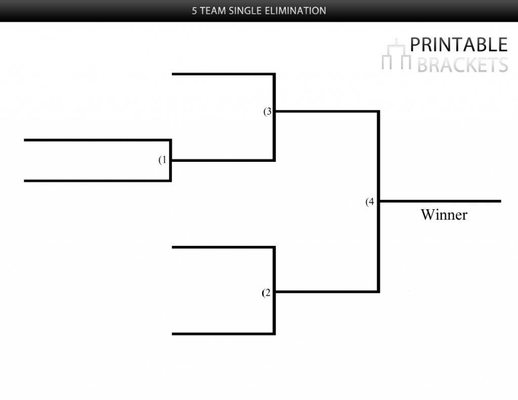 five player bracket