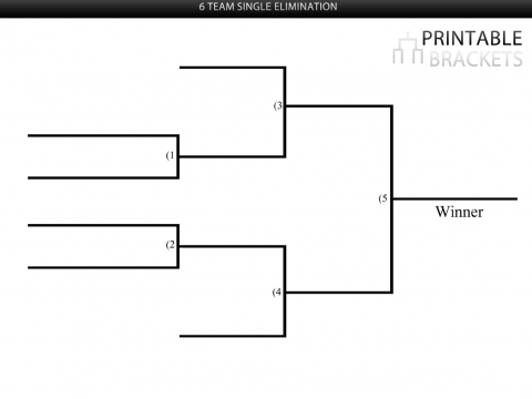 6 team single elimination bracket