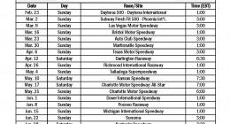 Free NASCAR Schedule