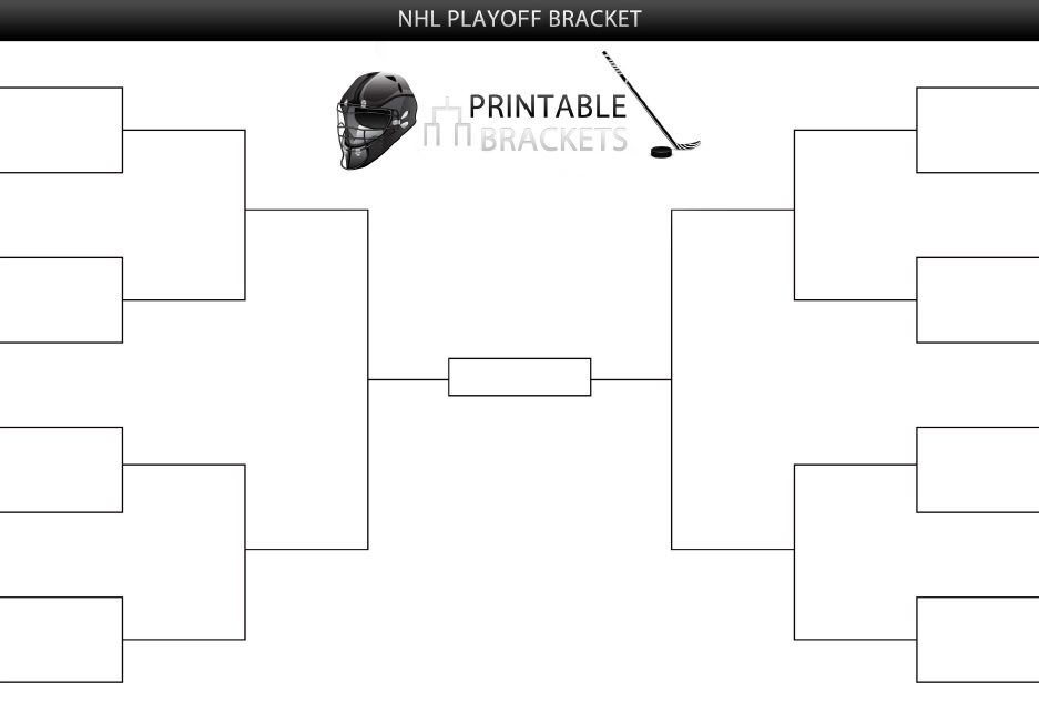 picture regarding Nfl Playoff Bracket Printable known as 2020 NHL Playoff Bracket NHL Playoffs Bracket