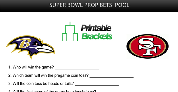 2017 super bowl prop bet sheet