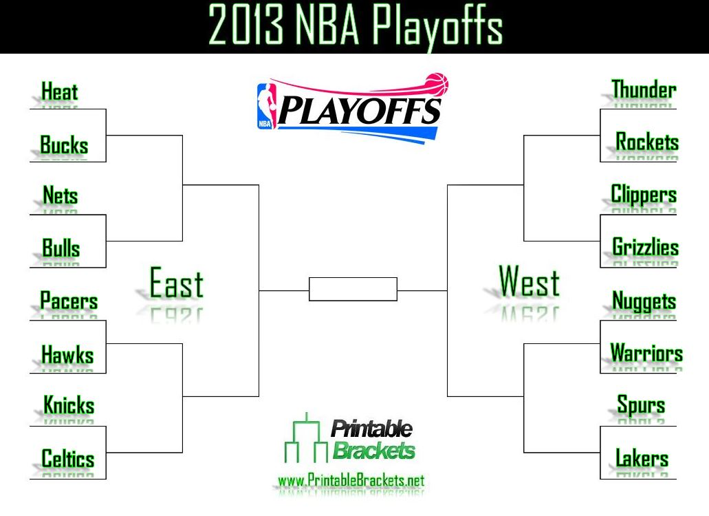 It's just a graphic of Dashing Nba Playoffs Printable Brackets