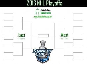 Screenshot of the NHL Playoffs 2013 bracket