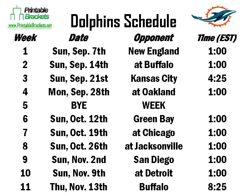 picture about Miami Dolphins Printable Schedule identified as Dolphins Timetable Miami Dolphins Program