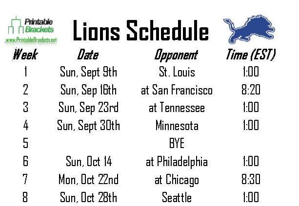 detroit lions 2014 schedule pdf