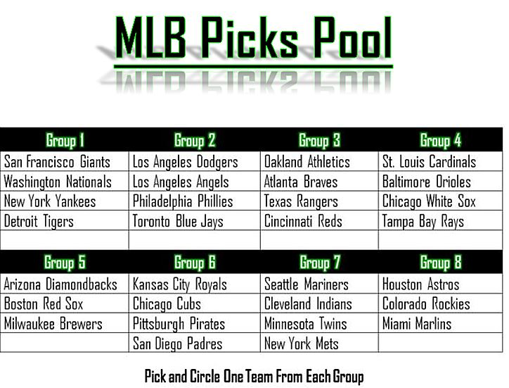 MLB Picks Pool