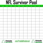 screenshot of the NFL Survivor Pool