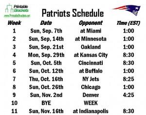 photo regarding Patriots Printable Schedule named Patriots Agenda Refreshing England Patriots Routine
