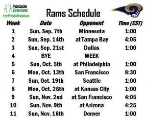 Free Rams Schedule