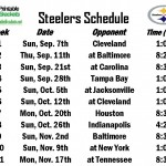 Printable Steelers Schedule
