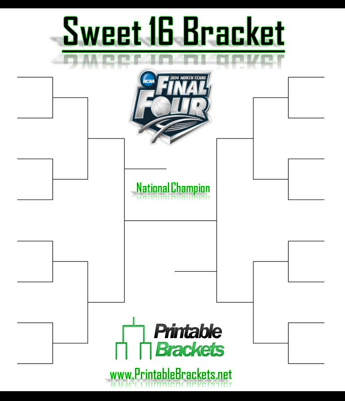 Insane image with sweet 16 printable bracket