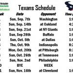 Texas Schedule