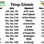 Free Vikings Schedule
