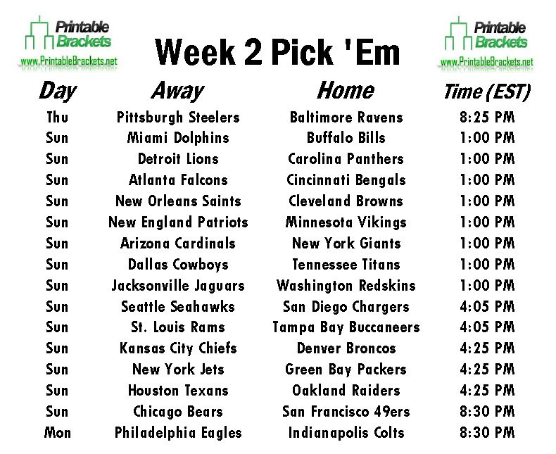 image regarding Nfl Week 2 Schedule Printable referred to as Msn fox athletics university basketball ratings, steelers roster