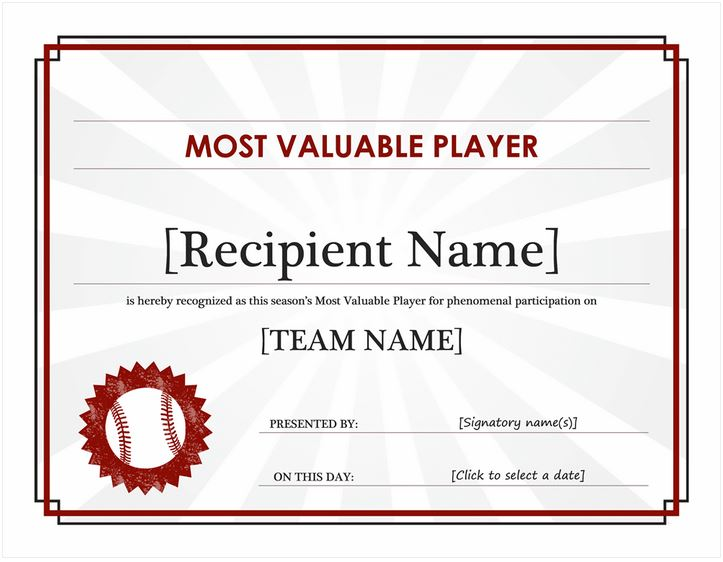 Mvp award mvp award template mvp awards for Basketball mvp certificate template