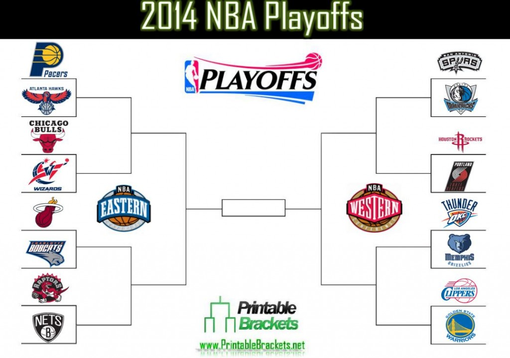 picture relating to Nba Playoff Printable Bracket titled 2014 NBA Playoffs 2014 NBA Playoffs Bracket NBA Playoffs