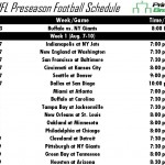 Printable 2014 NFL Preseason Schedule
