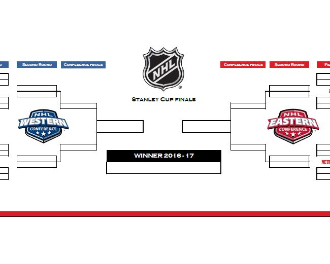 photo regarding Printable Nhl Playoff Bracket identify 2019 NHL Playoffs Template