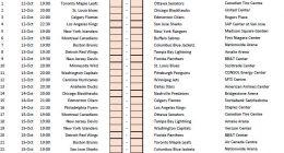 NHL Schedule 2016-17 Template