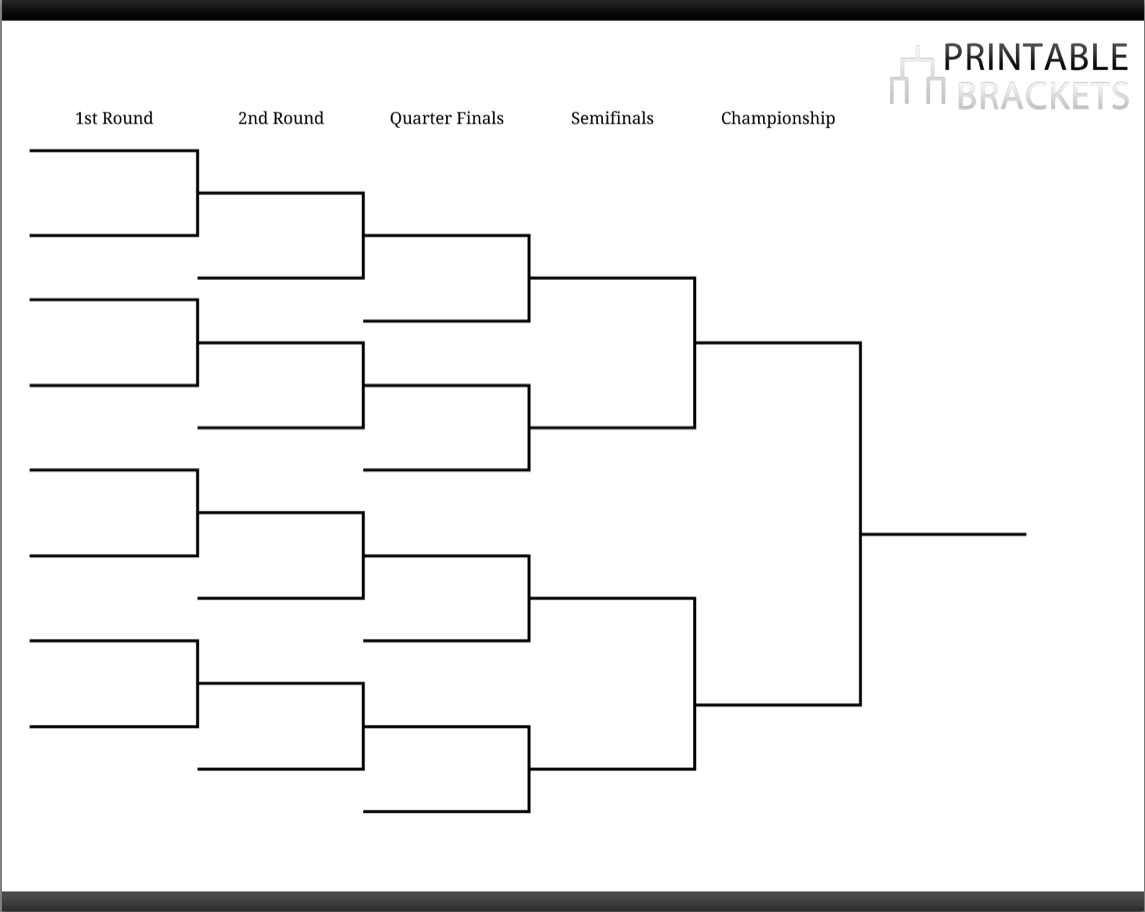 pool tournament brackets printable pool tournament brackets