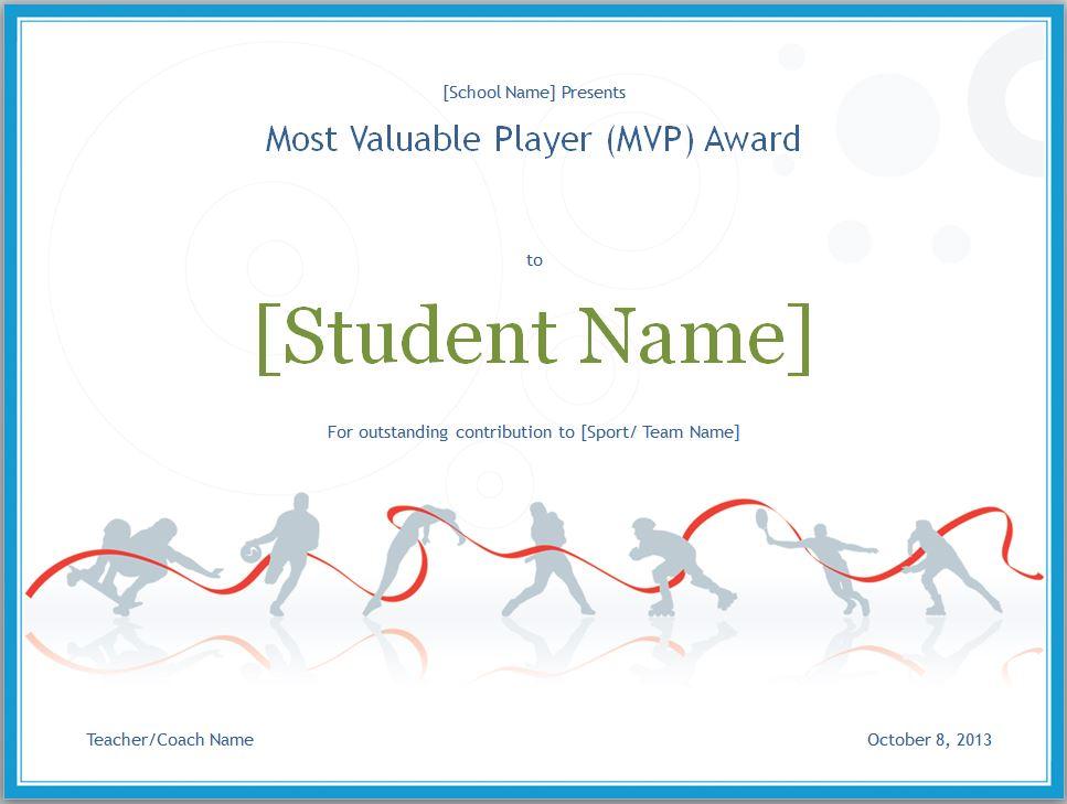 Mvp certificate mvp certificate template for Basketball mvp certificate template
