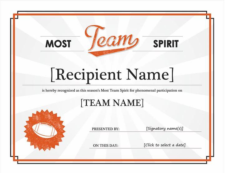 Free Team Spirit Award